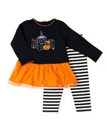 Halloween Appliqued Legging Set