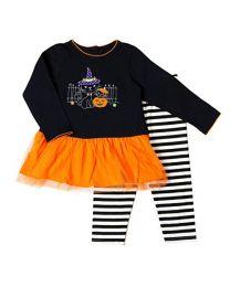 Infant Halloween Appliqued Legging Set