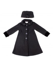 Fleece Coat with Decorative Collar