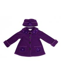 Purple Fleece Jacket  with Hat