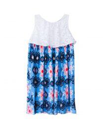 Yoke Top with Blue Aztec Print Sundress