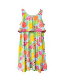 Pink Flamingo Print Sundress