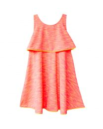 Coral and Yellow Neon Sundress