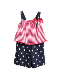 July 4th Knit Romper Set