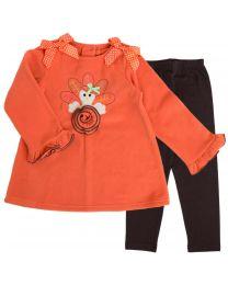 Infant Fleece Legging Set with Turkey Applique