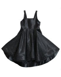 5/10 Black Shantung and Sparkle Special Occasion Dress