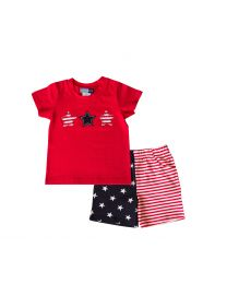 Infant Boys Knit July 4th Short Set