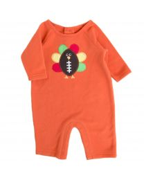 Newborn/Infant Thanksgiving Appliqued Fleece Onepiece