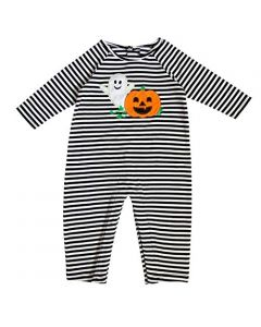Newborn/Infant Boy Knit Onepiece with Halloween Applique